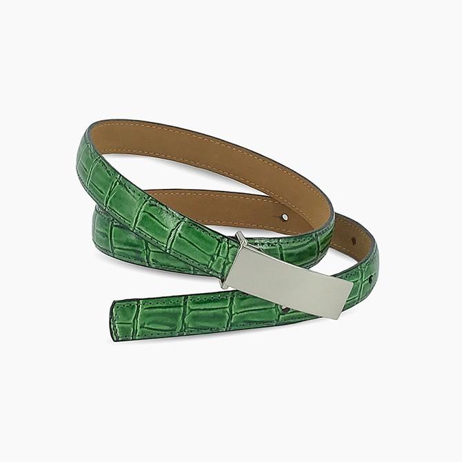 Green Croc Belt