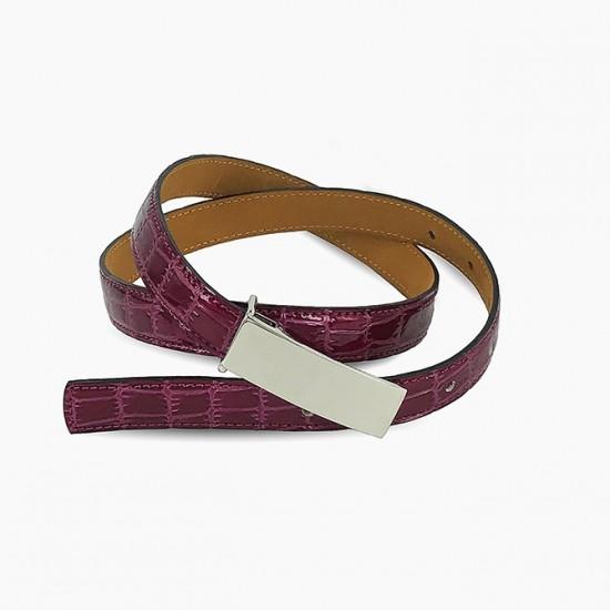 Raspberry Croc Belt