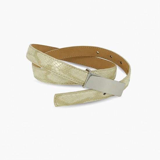 Cream Snake Belt