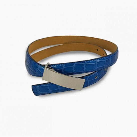 Cobalt Croc Belt