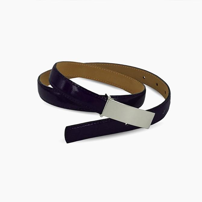 Deep Purple Leather Belt