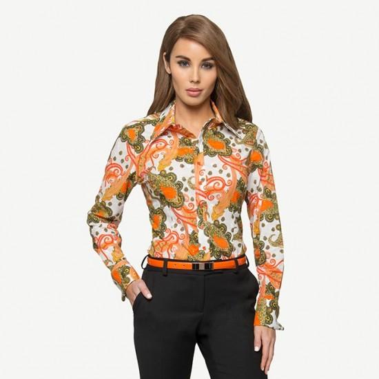 Orange Paisley Shirt
